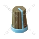 Rubber Touch Rotary Knob with Coloured Pointer - Pointer Colour Blue