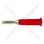 4 mm Banana Plug with Hard Plastic Cover and Solder Terminals - Colour Red