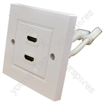 Eagle Twin HDMI Wall Plate With Flying Leads