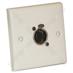 AV Wall Plate with 1 x 3 Pin Female XLR Socket (NC3FDL1)