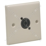 AV Wall Plate With 1 x Speakon  NL4MP) Speaker Connector