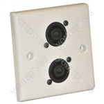 AV Wall Plate With 2 x Speakon  NL4MP) Speaker Connector