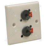 AV Wall Plate With 2 x Locking Jack Sockets (NJ3FP6C)