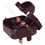 Black 3 A Euro Converter Plug Non Earthed Shuko Euro Plug to 3 Pin UK Plug