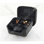 Black 5 A Fused Converter 2 Pin Euro Schuko Plug to 3 Pin UK Plug