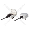 White 5 A fused Euro Converter Plug 2 pin transformer Plug to 3 Pin UK Plug