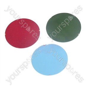 50 mm Dichroic Filter for Par 16 Cans and Low Voltage Downlighters - Colour Red