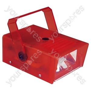 FX LAB Blue 14 W Plastic Mini Strobe - Colour Red