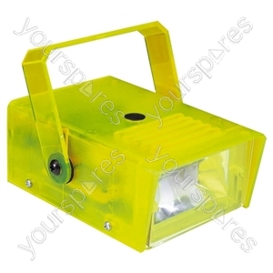 FX LAB Blue 14 W Plastic Mini Strobe - Colour Yellow