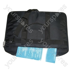 Black Fabric DJ Padded CD Bag - Holds 50 CDs