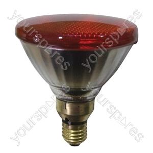 Sylvania Par 38 Lamp ES 80W - Colour Red