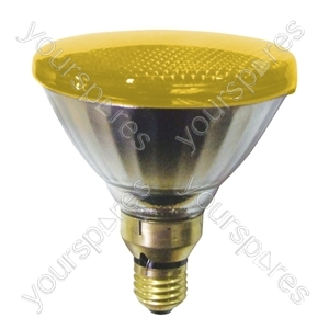 Sylvania Par 38 Lamp ES 80W - Colour Yellow