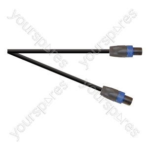 Professional 4 Pole Speakon Plug to 4 Pole Speakon Plug Speaker Lead With 2x 1.5mmHighflex Cable - Lead Length (m) 6