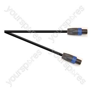 Professional 4 Pole Speakon Plug to 4 Pole Speakon Plug Speaker Lead With 2x 1.5mmHighflex Cable - Lead Length (m) 10
