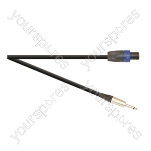 Professional 6.35 mm Jack Plug to 4 Pole Speakon Plug Speaker Lead With Neutrik Connectors and 2x 1.5mm Highflex Cable - Lead Length (m) 10