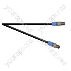 Professional 2 Pole Speakon Plug to 2 Pole Speakon Plug  Speaker Lead 2x 1.5mm Highflex Cable - Length (m) 6