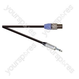 Professional 2 Pole Speakon Plug to 6.35mm Mono Jack Plug  Speaker Lead 2x 1.5mm Highflex Cable - Lead Length (m) 20