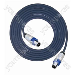 Professional 4 Pole Metal Speakon Plug to 4 Pole Metal Speakon Plug Speaker Lead 4x2.5mm Highflex Cable - Lead Length (m) 3