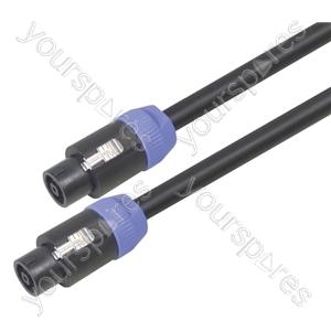 Professional 8 Pole Speakon Plug to 8 Pole Speakon Plug Speaker Lead With Neutrik Connectors and 8x 1.5mm Highflex Cable - Lead Length (m) 1