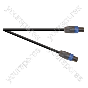 Professional 4 Pole Speakon Plug to 4 Pole Speakon Plug Speaker Lead 4x 2.5mm Cable - Lead Length (m) 1