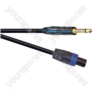 Professional 6.35 mm Jack Plug to 4 Pole Speakon Plug Speaker Lead With Neutrik Connectors and 2x 2.5mm Klotz Cable  - Lead Length (m) 1