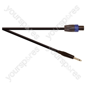 Professional 6.35 mm Jack Plug to 4 Pole Speakon Plug Speaker Lead With Neutrik Connectors and 2x 2.5mm Klotz Cable  - Lead Length (m) 5