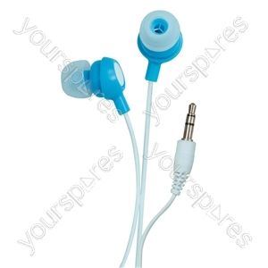 Bud Type Digital Stereo Earphones - Colour Breezy Blue