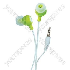 Bud Type Digital Stereo Earphones - Colour Luscious Lime