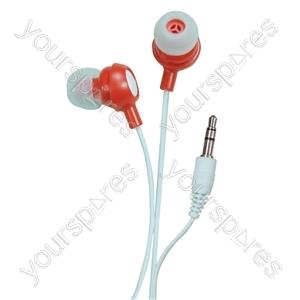 Bud Type Digital Stereo Earphones - Colour Risky Red