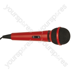 Dynamic Handheld Karaoke Microphone - Colour Red
