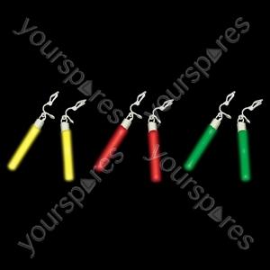 Glow Earrings - Colour Green