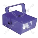 FX LAB Blue 14 W Plastic Mini Strobe - Colour Blue