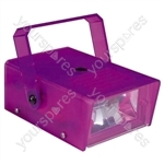 FX LAB Blue 14 W Plastic Mini Strobe - Colour Purple