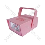 Cheetah Battery Operated LED Mini Strobe - Colour Pink
