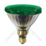 Sylvania Par 38 Lamp ES 80W - Colour Green