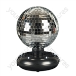 6 Inch Free Standing Rotating  Mirror Ball Kit