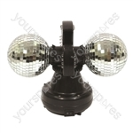 Cheetah Twin Ball 4 Inch LED Mirror Ball Light Effect
