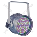 Par 64 Short Nose LED DMX Can - Colour Aluminium