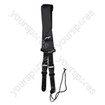 Nylon Guitar Strap With Quick Release and Leather Ends - Colour Black