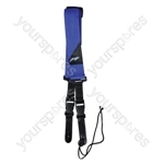 Nylon Guitar Strap With Quick Release and Leather Ends - Colour Blue