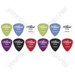 12 Assorted Matte Colour Nylon Guitar Picks  - Thickness (mm) 1.2