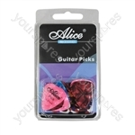 24 Assorted Colour Marble Effect Guitar Picks In Three Sizes