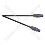 Professional 4 Pole Speakon Plug to 4 Pole Speakon Plug Speaker Lead With 2x 1.5mmHighflex Cable - Lead Length (m) 3