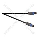 Professional 4 Pole Speakon Plug to 4 Pole Speakon Plug Speaker Lead With 2x 1.5mmHighflex Cable - Lead Length (m) 6