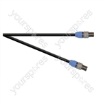 Professional 2 Pole Speakon Plug to 2 Pole Speakon Plug  Speaker Lead 2x 1.5mm Highflex Cable - Length (m) 1