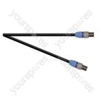 Professional 2 Pole Speakon Plug to 2 Pole Speakon Plug  Speaker Lead 2x 1.5mm Highflex Cable - Length (m) 1
