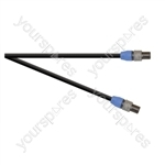 Professional 2 Pole Speakon Plug to 2 Pole Speakon Plug  Speaker Lead 2x 1.5mm Highflex Cable - Length (m) 6
