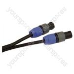Professional 2 Pole Speakon Plug to 2 Pole Speakon Plug  Speaker Lead 2x 1.5mm Highflex Cable - Length (m) 10