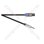 Professional 2 Pole Speakon Plug to 6.35mm Mono Jack Plug  Speaker Lead 2x 1.5mm Highflex Cable - Lead Length (m) 20