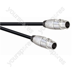 Professional 6.35 mm Jack Plug to Jack Plug Speaker Lead with Neutrik Connectors and 2x 1.5mm Highflex Cable - Lead Length (m) 1